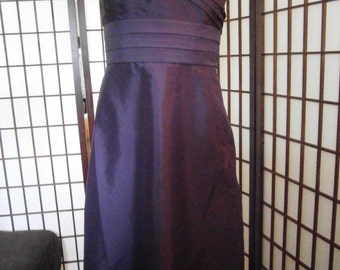Women's Strapless Purple Gown