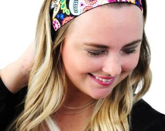 Sugar Skulls and Flowers, Day of the Dead Headband, Fashion Headband, Hair Accessories by Simply Martha