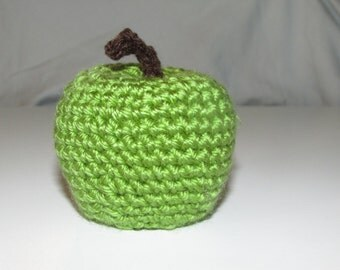 Granny Smith Apple Hand Crocheted by MommaSiedt
