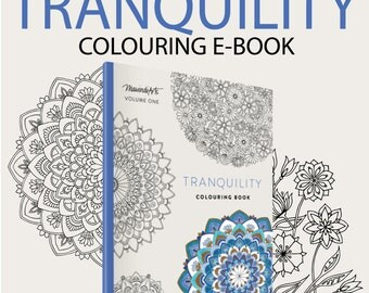 EBOOK - 30 pages - Printable Adult Colouring Book - Tranquility Volume 1 - Instant PDF Download