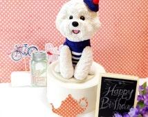 Custom Bichon Frise Custom Cake Topper, Birthday Bichon, Cute cake topper, Puppy Birthday Topper, Cute Dog Cake Topper