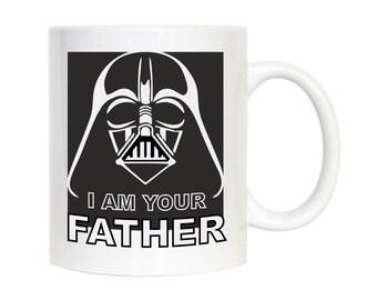 I Am Your Father Ceramic Mug, Star Wars Mug, Darth Vader Coffee Mug, Gift for Dad From Son Or Daughter, Father's Day Mug, Gift for Him, Mugs