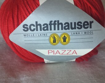 Schaffhauser PIAZZA Cotton Yarn Color 34 Red