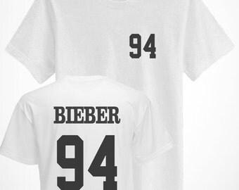 Bieber 94 Varsity College T-Shirt Belieber Top