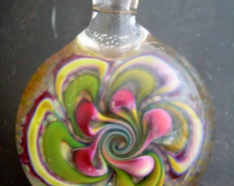 Glass Pendant Handblown Boro Glass Jewelry