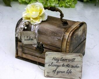 Rustic Wedding Wish Chest