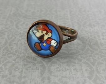 Super Mario Ring (Adjustable) Copper