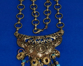 SN001 - Brass chain and necklace