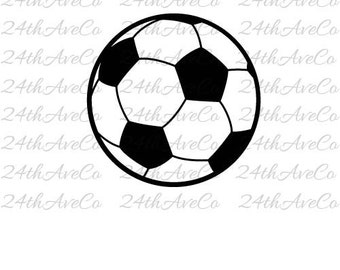 Soccer Ball .DXF .SVG  .PDF .Png, Cut File, Digital File, Silhouette Studio, Cricut, Football, Sports