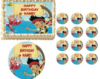 JAKE and the NEVERLAND PIRATES Edible Cake Topper Image Frosting Sheet Cake Decoration Many Sizes!