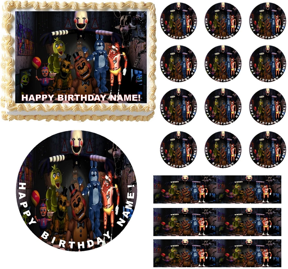 Five Nights at FREDDYS Edible Cake Topper Image Edible