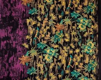 "Designer Fabric, Floral Print, Dressmaking Fabric, Home Accessories, Black Fabric, 44"" Inch Rayon Fabric By The Yard ZBR162B"