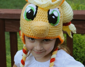 My Little Pony Costume, Applejack, Crochet Hat Pattern, PDF Instant Download, Crochet Hat Pattern for Baby, Toddler, Child, and Adult