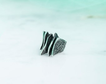 Band ring Calima Wind-available in silver and bronze