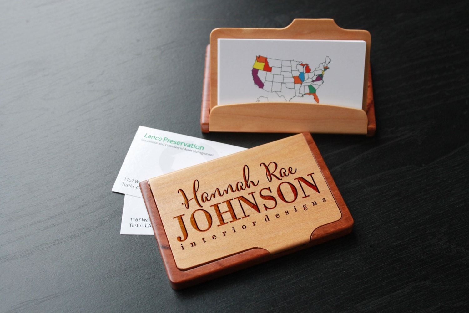 Personalized business card holder custom business card zoom magicingreecefo Image collections