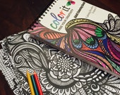 50 Original Doodles To Color - Calming Doodles Volume 1 by ColorIt - Adult Coloring Book -Hardback, Spiral Binding, Blotter, Acid Free Paper