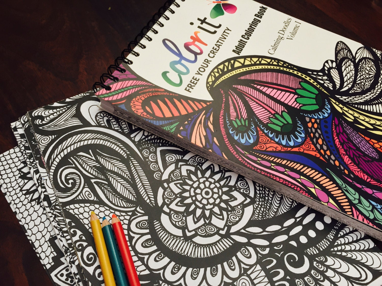 Sw swear word coloring pages etsy - 50 Original Doodles To Color Calming Doodles Volume 1 By Colorit Adult Coloring Book Hardback Spiral Binding Blotter Acid Free Paper