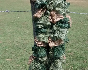 Green Frill Scarf