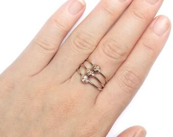 Skull ring, silver gold ring, rock ring, skull pinky ring, skull jewelry