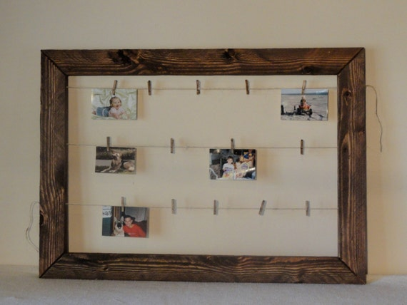 Rustic Resawn Wooden Frame With Twine Photo By