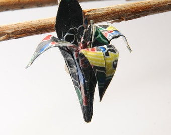 "Origami ""Fleur de Lys Noire""-brooch"