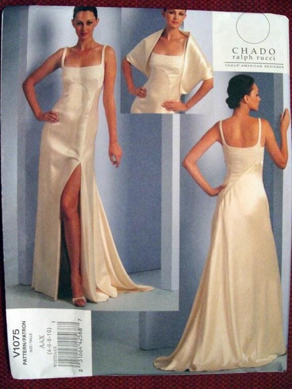 Vogue american designer chado ralph rucci sewing pattern 1075 sz 4 10