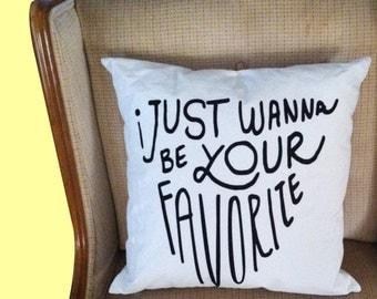 """Nicki Minaj """"Favorite"""" Pillow"""