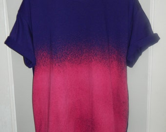 Tie Dye T-Shirt acid wash T-shirt hipster Retro 90s dip dye Galaxy top