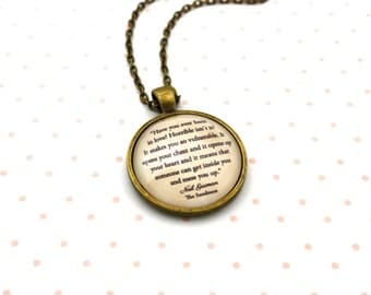 Sandman, 'Have You Ever Been In Love?', Neil Gaiman Quote Necklace or Keychain