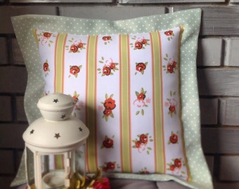 "Throw pillow cover – Cushion cover with border ""Roses Shebby"" - 35*35 40*40 50*50 cm"