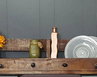 Hand Crafted-Rustic Wood-Pallet Shelf-Wall-Home-Storage-Decor