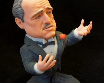 The Godfather, just the Don - 3D printed sandstone figurine of Marlon Brando, Collectible Art, 3D sculpture, Collecting doll