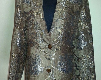 Gold, Silver, Brown, Black, Blazer Jacket - Size 12. Never Worn! Free Shipping in the lower 48 states!