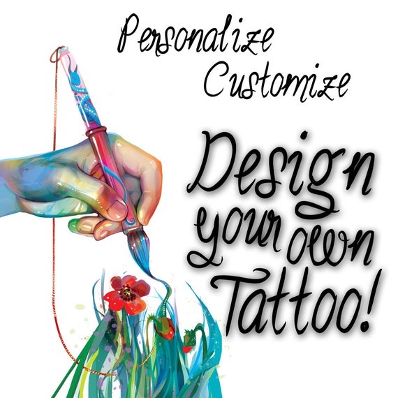 Create your own custom temporary tattoo design by fasttat for Fake tattoo creator
