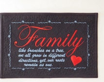 "Family   7"" x 11"" Machine Embroidery Design  *Instant Download*"