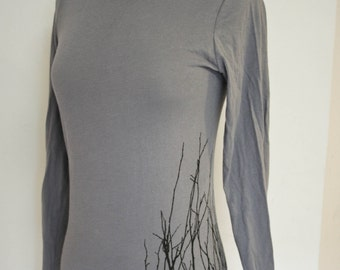 Winter Twigs on slate long sleeve