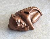 Brutus - Gargoyle - Bronze - painted - cement cast - sculpture - figurine - creature sculpt - hydrocal - stone - gypsum - horror