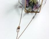 Siren Brown Agate Slice Pendant Necklace