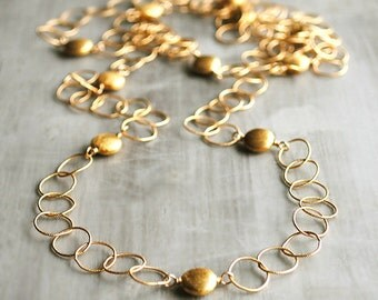 Extra Long - South Beach Gold Coin Necklace