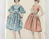 "1960s Sewing Pattern Uncut / 1960s Party Dress  / Advance 8984 / Bust 36"" Waist 28"""