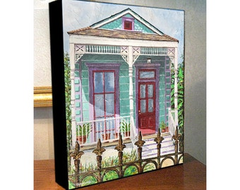 "New Orleans French Quarter Treme House Art Canvas Print On 8x10x1.5"" and 11x14x1.5"" Gallery Wrap"