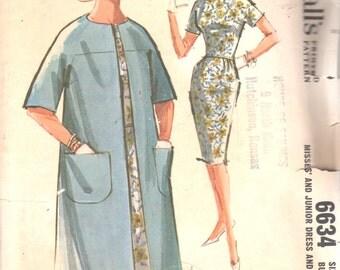 McCalls 6634 1960s Misses Clutch COAT and Sheath DRESS Pattern  Womens Vintage Sewing Patten Size 12 Bust 32 UNCUT