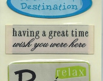 Making Memories Woven Labels - Travel #AA151