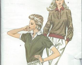 Kwik Sew 1232 Misses' Top - Size XS-S-M-L - Vintage Uncut Pattern