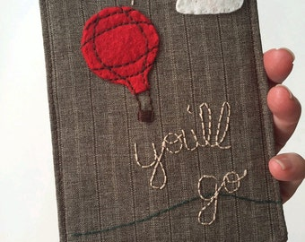 the Places You'll Go, Passport Cover, Wallet, Three compartment Great for a grad, hand embroidered