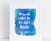 HOSEA 6:3 - 8X10 Print