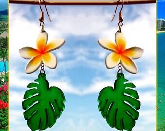 Plumeria & Palm Leaf