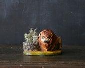 Vintage Buffalo Chalk Wear Festival Sculpture Bison Home Decor Southwest