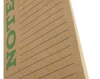 Mint Notes Notepad on Kraft Paper