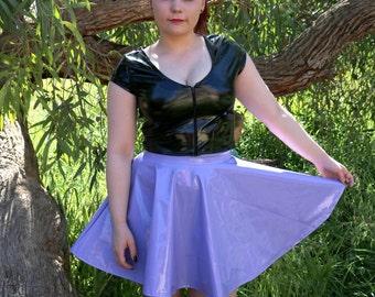 Lilac PVC Skater Skirt